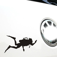 Funny Motorcycle Sticker Go Fish Diver Car Accessories for Bmw X1 X3 X5 Audi Q3 Q5 Q7 Ford Focus 2 3 Vw Skoda Polo Golf 4 5 6 7(China)