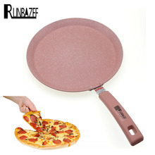 RUNBAZEF Non Stick Copper Frying with Nanoscale Ceramic Skillet Coating Induction Cooking Oven Safe Ceramica Pan Cookware Tool(China)