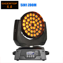 TIPTOP TP-L621A 36x15W 5in1 RGBAW Zoom LED Moving Head Wash With LCD Display,Powercon DMX In Stage Light In Stock Hi-Quality(China)