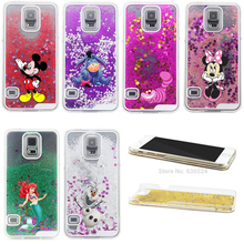 New Cartoon Characters Glitter Star Liquid Transparent Cheshire Cat Back Hard Cover Case Skin for Samsung Galaxy S3 i9300(China)