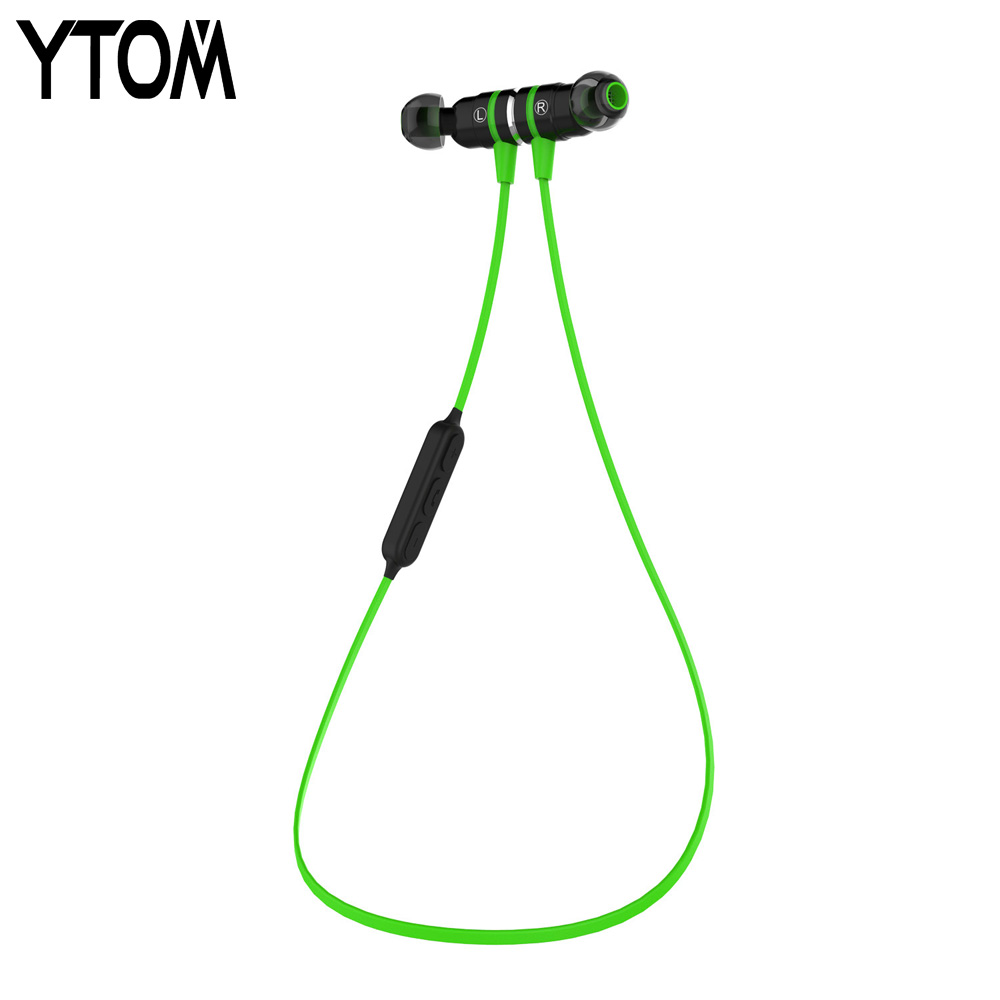 YTOM 335 Super Bass Bluetooth Earbuds headset wireless headphones earphone Magnetic switch Bluetooth 4.1 headset auriculares<br><br>Aliexpress
