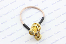 5 pcs\lot 20 cm RG178 Straight RP SMA Female (Male Pin) to Right Angle MCX Male Connector Pigtail Extension Cable