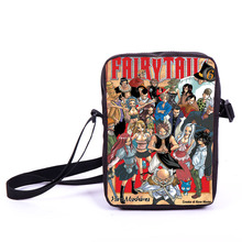 Anime Fairy Tail Shoulder Bag Children School Bags Girls Boys Mini Messenger Bag Gift For Kids Natsu Happy Erza Elza Cross Bags(China)