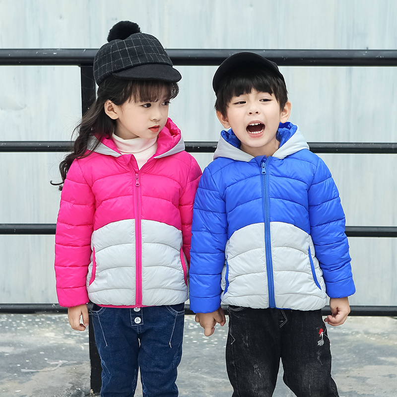 Winter jacket boy girl style cute panda duck fashion warm hooded coat girls boys kids outerwear Children