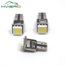 White 10Pcs T5 5050 1smd Instrument Lights Car Dashboard Auto Gauge vehicle 1 Smd Indicator Side Tail Bulb Dc 12v Lamp(China)