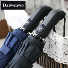 Y01 Wind Resistant  Folding Automatic Umbrella Male Auto Luxury Big Windproof Umbrellas Rain For Mem Black Coating Blue10K