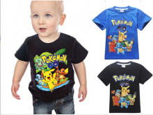 New 2016 boy's t shirt Pokemon go cotton short-sleeved t-shirt printing children's cartoon Pokemon go kids boys child's clothes