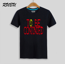 One Piece T Shirt To Be Continued T-Shirt Men Boy Anime Print Tshirt Short Sleeve Clothing Gift(China)