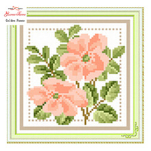 Needle DIY resin square diamond cross stitch Diamond painting kit full embroidery season flowers Kits DIY factory direct sale(China)