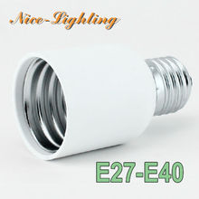 10pcs/lot E27-E40 Lamp Holder Converter Screw Socket E27 E40 Lamps Holder Adapter Light Bulb Plug Extender Free Shipping(China)