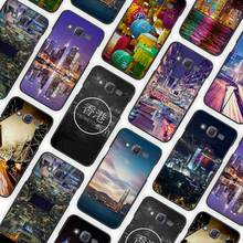 Hong Kong Sunset Skyscraper City Bay Black Case Cover Shell for Samsung Galaxy J1 J3 J2 J5 J7 Prime 2016 2017(China)