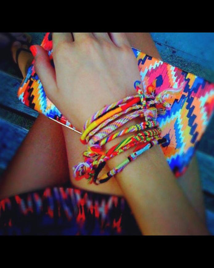 20 Pcs DIY Rainbow Rope Bracelets