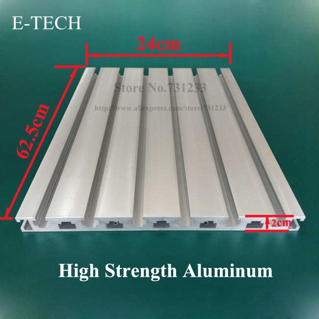 High Strength Panel Profile Aluminum Profile of CNC Engraving Machine 20mm Thick 625*240 mm<br><br>Aliexpress