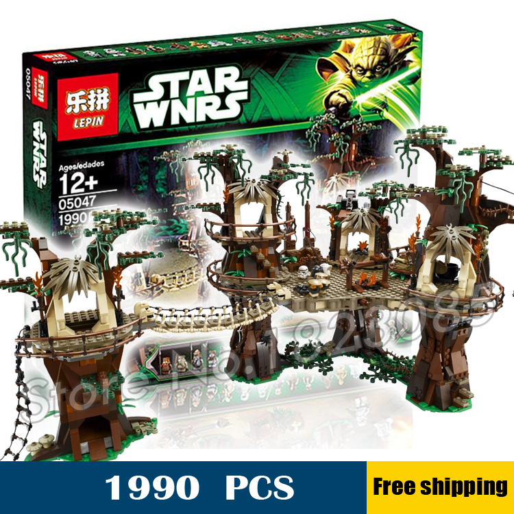 1990pcs Lepin 05047 Star Wars Ewok Village DIY Model Building Blocks Kit Minifigures unique Bricks Toys Compatible with Lego<br><br>Aliexpress