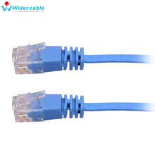 1m 2m 3m 5m 10m RJ45 Flat CAT6 CAT 6 Ethernet Cable Internet LAN Network Cord Cable Blue New Wholesale Free Shipping