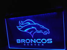 LD067- Denver Broncos Bar Pub Logo LED Neon Light Sign