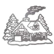 New Arrival 1Piece Metal Steel Santa Claus Cutting Dies Stencil DIY Scrapbooking Album of Chimney House Decorate With Pine(China)