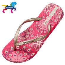Hotmarzz Women Bohemia Slippers Ladies Floral Flip Flops 2017 Summer Fashion Beach Sandals Slides Shoes(China)