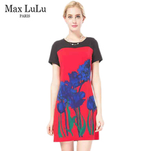 Max LuLu Bohemia Women Summer Dress Big Size Brand Clothing Casual Fashion Short Sleeve Woman's Slim Sexy Party Dresses Female(China)