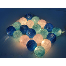 Cotton Ball 20-LED String Lights with US/EU-plug Party,patio,wedding,newborn,xmas,valentine decor gift