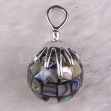 Free Shipping New without tags Fashion Jewelry Natural Blue New Zealand Abalone Shell Pendant 1Pcs RK586