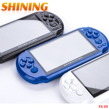 "X9 5.0"" Large Screen 8GB Portable Handheld Game Consoles Built-in 300 Classic NES Games MP3 MP4 Movie Camera Child Game Console(China)"