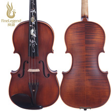 High Quality FineLegend 4/4 Full Size Handmade Professional Violin Ebony Inlaid with Shell Flower with Bow, Case, Rosin LCV2114