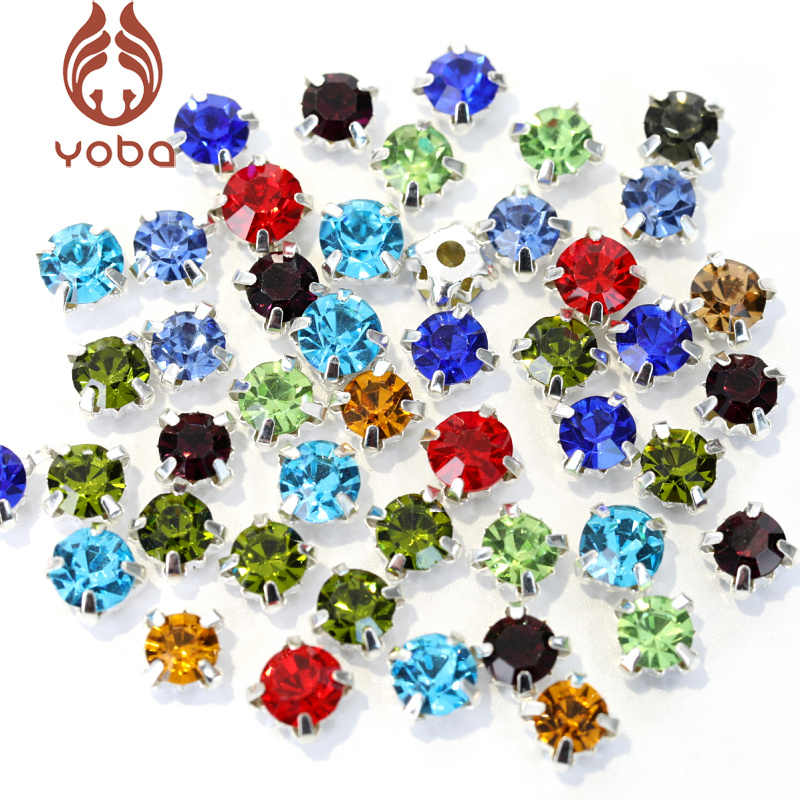 200pcs 4mm Glass Round Sew On Rhinestones With Silver Claw Flatback  Colorful Sew on Claw Rhinestone a8d0664ab6cc