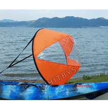 "Fashion waterproof round folding sail 42""sailing fishing kayakgearsfor kayak canoes inflatable sup paddle board accessories(China)"