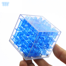4colors mini 3D Maze Magic Cube Toys Children Explore Labyrinth Rolling Ball Balance Brain Teaser Puzzle Game kids best Gifts(China)