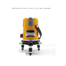 High precision 5 times 5 wire 3 wire 2 wire bright lithium battery charging laser level infrared ray laying instrument(China)