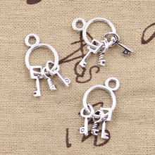 99Cents 6pcs Charms bunch of keys 26*12mm Antique Tibetan Silver Pendant Findings Accessories DIY Vintage Choker Necklace