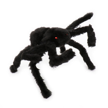 Halloween Horrible Big Black Furry Soft Fake Spider Halloween haunted house bar Decoration Supplies Joking Toys Realistic Props