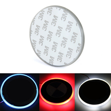 82mm Background Auto Tail Badge Emblem Logo Waterproof LED Light Lamp Sticker for B/MW 3 5 7 Series X3 Car Styling