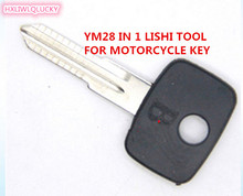 HXLIWLQLUCKY Automobiles Repair Tool Lishi Ym28 2 In 1 tool Formotorcycle Free Shipping(China)