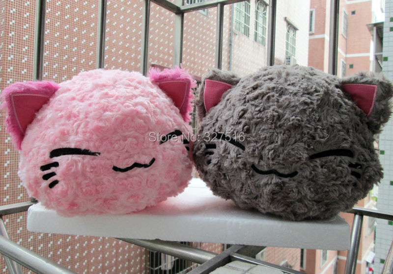 28 CM Cartoon Nemuneko Rose Series Sleeping Cat Soft Plush Doll Toys Kawaii Neko Cat Animal Pillow Free Shipping<br><br>Aliexpress