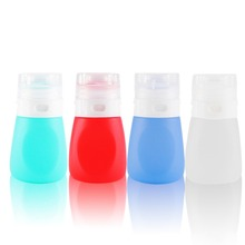 Portable 55ML Empty Brand Silicone Travel Packing Bottle Press Bottle for Lotion Shampoo Bath Make Up Tool [Mint Green]