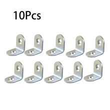 10Pcs Stainless Steel Angle Corner Right Angle Bracket Metal Furniture Fittings 90 Degree Frame Board Support(China)