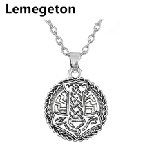Buy Lemegeton Thor's Hammer Metal Pendant Necklace Antique Silver Necklace Adjustable Long Chain Jewelry Fashion Necklace Men for $4.98 in AliExpress store
