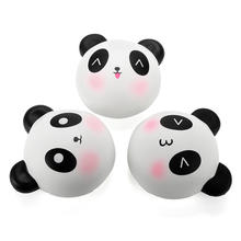 SWEES Cute Cartoon Panda Face Bread Squishy Slow Rising Jumbo Bear Soft Cream Scented Cake Straps Kid Fun Toy Gift Wholesale