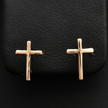 New Fashion jewellery  rose gold color cross stud for women girl  wholesale  E919