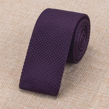 HH-315 Mens Slim Knit Ties 2016 New Brand Hi-Tie Solid Pattern Gravatas Skinny Purple 6cm Neck Tie for Business Wedding Party