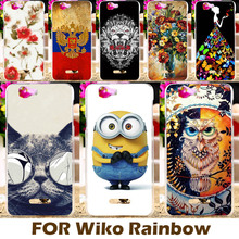 Top Selling Painting design Hard Plastic Case For Wiko rainbow Explay Fresh 5.0 inch cell Phone Cover shell Protective Sleeve