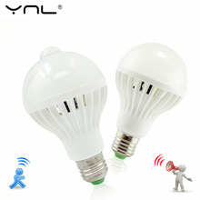 Buy YNL LED PIR Motion Sensor Lamp Body motion E27 220V 3W 5W 7W 9W 12W smart Light Sound Sensor Light Bulb Lampada voice for $1.71 in AliExpress store