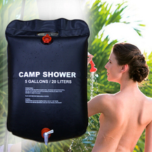 20L Water Bag Foldable Solar Energy Heated Camp PVC Shower Bag Outdoor Camping Travel Hiking Climbing BBQ Picnic Water Storage(China)