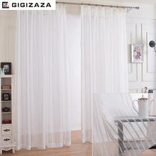 night's dream white jaquard voile curtains for livingroom 50*84inch tulle drape transparent window sheer  process finish size