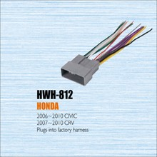 Plugs Into Factory Harness For Honda 2006~2010 Civic - Radio Power Wire Adapter / Aftermarket Stereo Cable / Male DIN To ISO