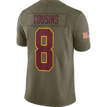 Men's Josh Norman Sean Taylor Kirk Cousins Ryan Kerrigan Olive Salute to Service Limited Jersey(China)