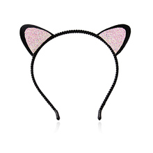 M MISM 2017 Women Black Crystal Rhinestone Cat Ears Headband Wedding Photography Hair Hoop Hair Accessories Hair Bows Headwear