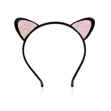 M MISM 2017 Women Black Crystal Rhinestone Cat Ears Headband Wedding Photography Hair Hoop Hair Accessories Hair Bows Headwear(China)